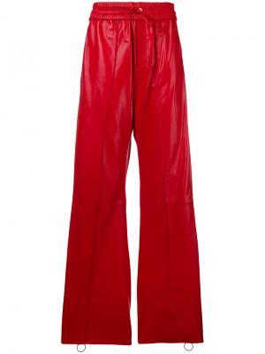 Flared side-slit trousers Off-White. Цвет: красный