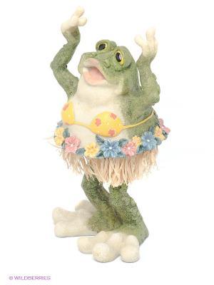 Статуэтка Лягушка Sealmark. Цвет: зеленый, бежевый, розовый, желтый, синий