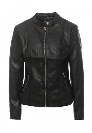 Куртка кожаная Coco Nut. Цвет: черный