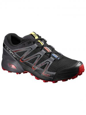 Кроссовки SHOES SPEEDCROSS VARIO BK/Magnet/FIERY R SALOMON. Цвет: черный,серый,красный