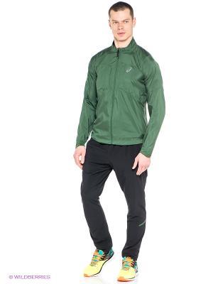 Ветровка Ms FujiTrail Jacket ASICS. Цвет: зеленый