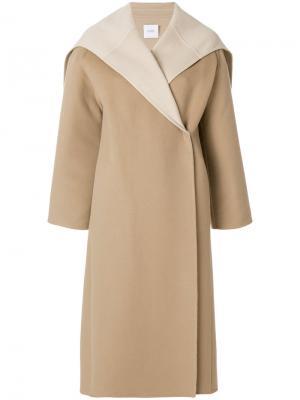 Пальто с воротником-кейп Agnona. Цвет: телесный