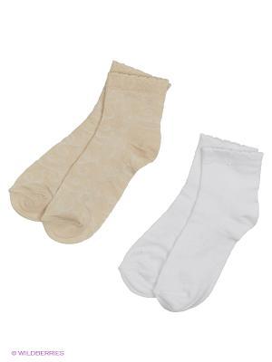 Носки - 2 пары Гамма. Цвет: белый, бежевый