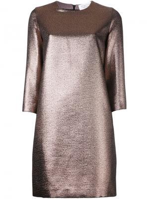 Короткое платье с эффектом металлик Gianluca Capannolo. Цвет: металлический