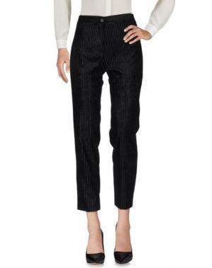 Повседневные брюки FACE TO. Цвет: черный
