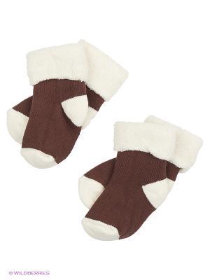 Носки, 2 пары lap n cap. Цвет: коричневый
