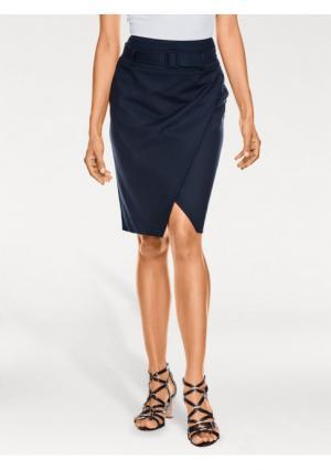 Моделирующая юбка ASHLEY BROOKE by Heine. Цвет: красный, молочно-белый, темно-синий, черный