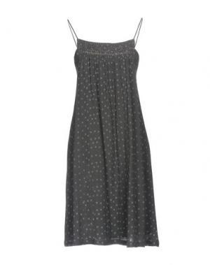 Короткое платье SWILDENS. Цвет: свинцово-серый