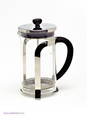 Кофейник Bekker. Цвет: прозрачный (осн.), серебристый