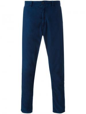 Укороченные брюки Blue Japan. Цвет: синий