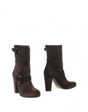 Полусапоги и высокие ботинки LENA MILOS. Цвет: темно-коричневый