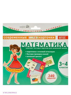 Карточки. Математика. 3-4кл. АЙРИС-пресс. Цвет: зеленый