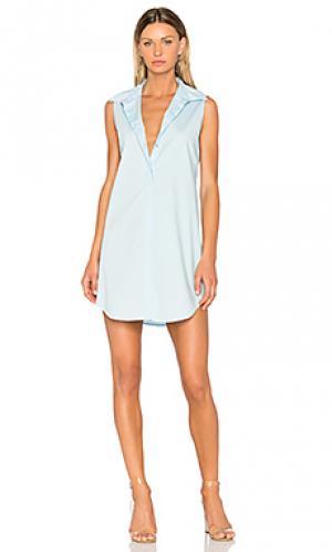 Poplin shirt dress 525 america. Цвет: нежно-голубой
