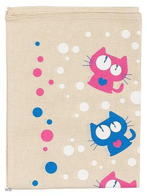 Полотенца Котики сердечки, 2 шт., с петелькой GrandStyle. Цвет: бирюзовый, серый, розовый
