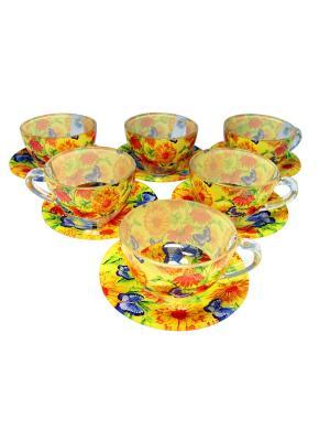 Чайный сервиз на 6 персон BOHMANN. Цвет: желтый
