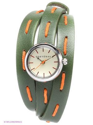 Часы TOKYObay. Цвет: темно-зеленый