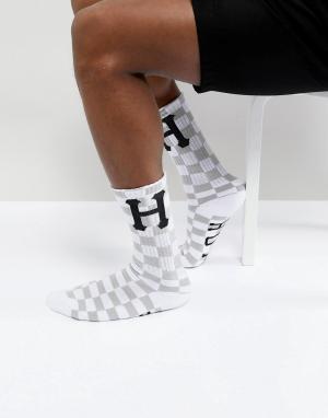 HUF Белые носки в клетку. Цвет: белый