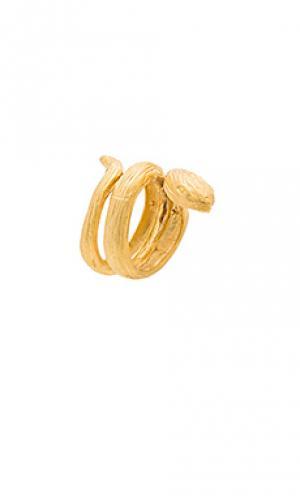 Кольцо slytherin Natalie B Jewelry. Цвет: металлический золотой