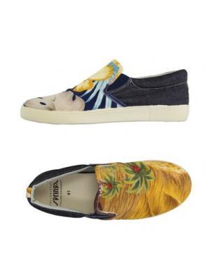 Низкие кеды и кроссовки SPRINGA. Цвет: охра