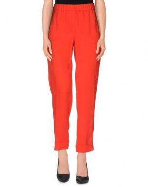 Повседневные брюки NUDE. Цвет: красный