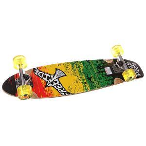 Скейт круизер  Flocks Mid Complete Black/Red/Yellow/Green 7.5 x 32 (81.3 см) Freeride. Цвет: черный,желтый,зеленый,красный