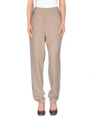 Повседневные брюки BOSS ORANGE. Цвет: бежевый