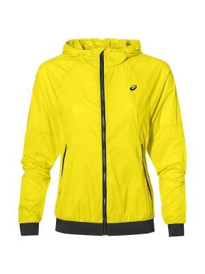 Куртка fuzeX TR LW JACKET ASICS. Цвет: желтый
