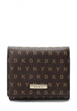 Кошелек DKNY. Цвет: коричневый