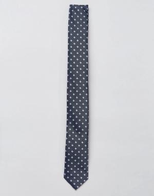 Jack & Jones Узкий галстук в горошек. Цвет: темно-синий