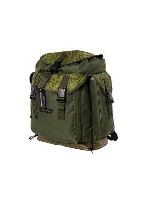 Рюкзак классический с боковыми карманами 43 л, Пиксель/олива SOLARIS. Цвет: оливковый