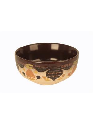 Салатник Латте, 680 мл Elff Ceramics. Цвет: коричневый, кремовый