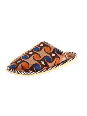 Тапочки домашние женские Migura. Цвет: коричневый, бежевый, оранжевый, белый, синий
