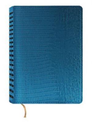 Ежедневник недатированный на гребне, А5, бирюзовый, Grazia, 288 листов Maestro de Tiempo. Цвет: бирюзовый