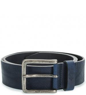 Синий кожаный ремень Marc O'Polo. Цвет: синий
