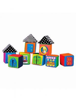 Мягкие кубики K'S Kids. Цвет: оранжевый (осн.), желтый, зеленый