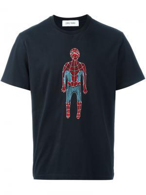 Футболка с вышивкой человека паука Jimi Roos. Цвет: чёрный