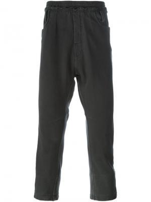 Укороченные спортивные брюки Haider Ackermann. Цвет: серый