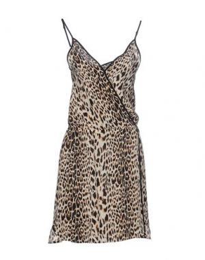 Короткое платье VIX PAULAHERMANNY. Цвет: бежевый