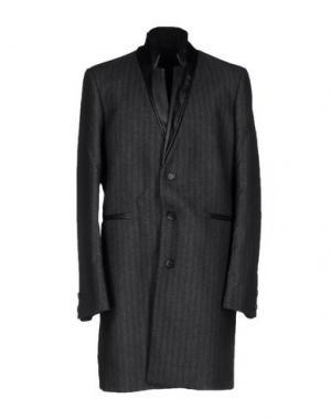 Пальто GIULIANO FUJIWARA. Цвет: стальной серый