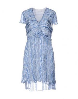 Короткое платье KRISTINA TI. Цвет: лазурный