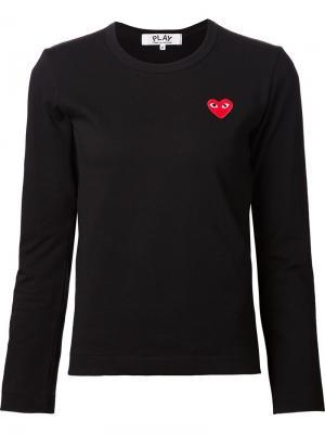 Embroidered heart T-shirt Comme Des Garçons Play. Цвет: чёрный