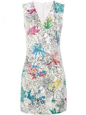 Платье с цветочным принтом Peter Pilotto. Цвет: белый