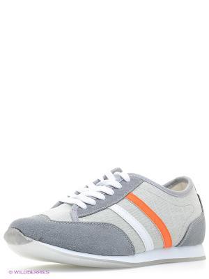 Кроссовки Dino Ricci. Цвет: серый, оранжевый