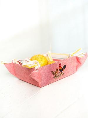 Корзинка для хлеба ARLONI. Цвет: красный, белый