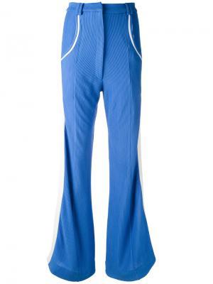 Расклешенные брюки в рубчик Richard Malone. Цвет: синий