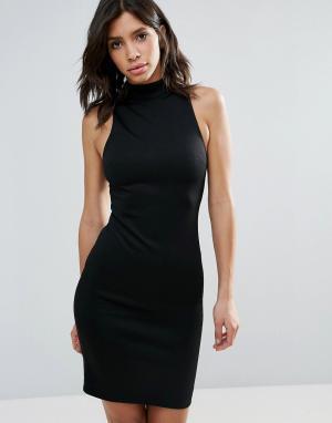 Talulah Облегающее платье с высоким воротом Relapse. Цвет: черный