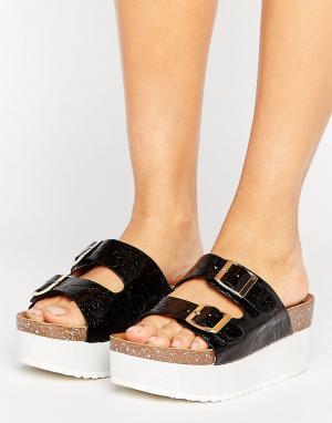 Raid Черные сандалии на платформе Kooper. Цвет: черный