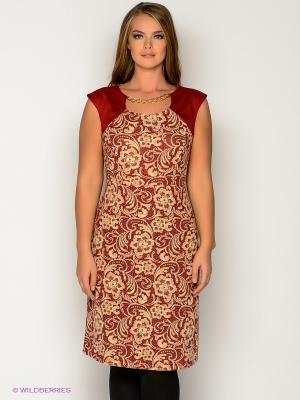 Платье МадаМ Т. Цвет: бордовый, кремовый
