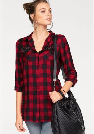Удлиненная блузка MELROSE. Цвет: красный/черный, розовый/черный