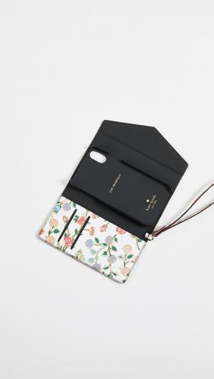 Mini Bloom iPhone X Envelope Wristlet Kate Spade New York